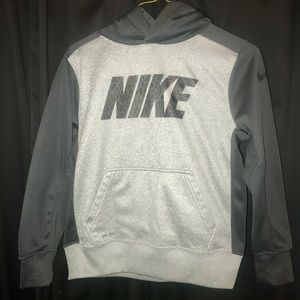Light and Dark Grey Nike Boy's Hoodie.